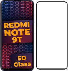 5D стекло Xiaomi Redmi Note 9T (Защитное Full Glue) Black (Сяоми Ксиаоми Редми Ноут Ноте 9Т)