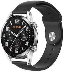 Ремешок Base для Huawei Watch GT 2 46mm Black (22 мм) (Хуавей Вотч ГТ 2 46 мм)