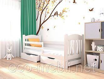 Ліжко дитяче Оскар з натурального дерева  (бук) Луна