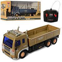 Машинка трейлер грузовик на пульте радио управлении золотистый 25см
