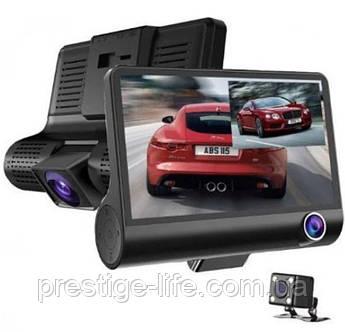 Автомобильный видеорегистратор на 3 камеры DVR XH202 FullHD 1080p