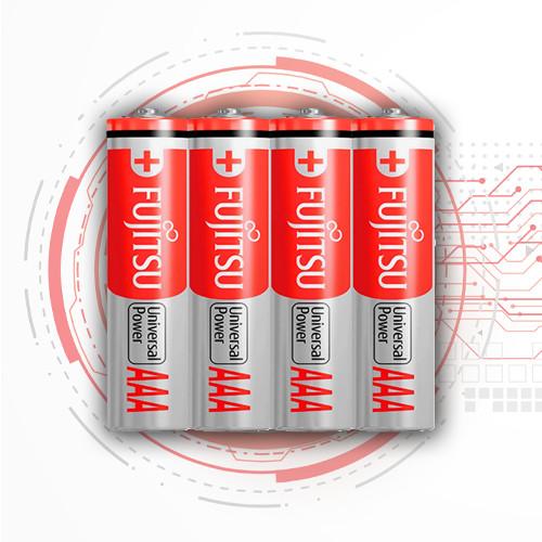 Батарейки лужні  мізинчикові (алкалінові міні пальчик) FUJITSU Alkaline - AAА, LR03, 4 шт