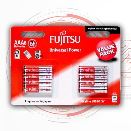 Батарейки ААА щелочные мизинчиковые (алкалиновые минипальчиковые) FUJITSU Alkaline - ААА, LR03, 8 шт
