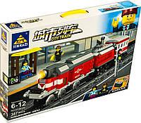 Конструктор Kazi 98240 Красный пассажирский поезд