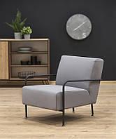 Кресло CUPER серый кожа натуральная-композитная (Halmar)