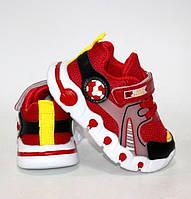 Детские кроссовки искусственная кожа с текстильным верхом красные