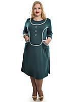 Батальное платье с карманами ,размеры 48-62,модель ДК 538, фото 1