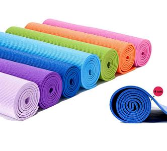 Килимок для йоги та фітнесу спортивний каремат для тренувань і для занять спортом Різні кольори