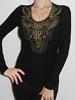 Блузка нарядная трикотажная с вышивкой Treysi 6334 Турция рр. L