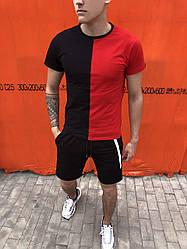 Футболка мужская Segmentation Pobedov (красно-черная)