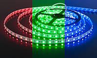 Светодиодная LED лента SMD-5050 60 pcs/m 14,4W 12V IP55 RGB | Лед лента бабина разноцветная
