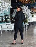 Деловой женский брючный костюм батал с пиджаком свободного кроя (р. 48-62)., фото 3