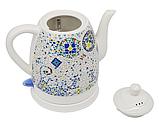 Чайник электрический керамический Haeger HG-7837 1.5 л 1350 Вт   Электрочайник с рисунком, фото 3