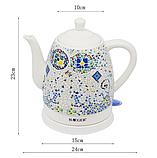 Чайник электрический керамический Haeger HG-7837 1.5 л 1350 Вт   Электрочайник с рисунком, фото 4