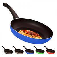 Сковорода антипригарна MH-0335, діаметр 24 см, колір асорті, метал/пластик, сковорідка, сковорідки