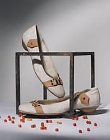 Обувь из конопли от Олега Земнухова. Туфли женские «Лодочка «Ремешок».