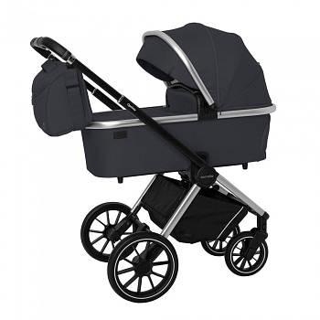 Универсальная коляска 3 в 1 Carello Optima CRL-6504 Platinum Grey Текстиль лен Сумка для мамы