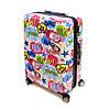 Пластиковый чемодан большой из поликарбоната Airtex Comete Words 115 л