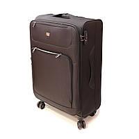 Легка тканинна велика валіза на 4 колесах Airtex чорна, фото 1