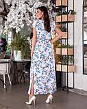 Жіноче літнє батальне сукню в квітковий принт (р. 48-62), фото 5