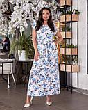 Жіноче літнє батальне сукню в квітковий принт (р. 48-62), фото 4