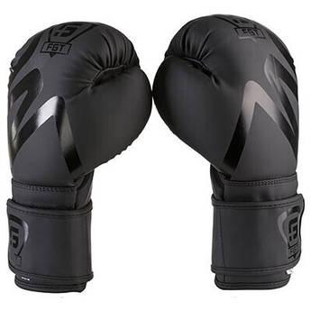 Боксерские перчатки FGT collection 3035, Flex, 10oz, 12oz, черный, печать на манжете.