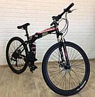 """Складаний Велосипед 26\"""" BeGasso Soldier рама 17\"""" чорно-червоний колір на зростання 155-185 см, фото 5"""