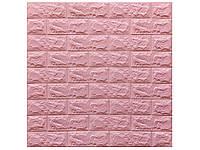 Самоклеюча 3D панель 700х770х6мм (CS-10) Рожевий