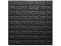 Самоклеюча 3D панель 700х770х6мм (CS-19) Чорний