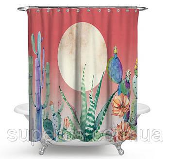 Тканинна шторка для ванної 180х200 см Sunset in the desert