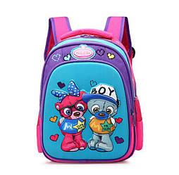 Школьный ортопедический рюкзак для девочек 1 2 класс Мишка Тедди