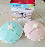 Органайзер для солодощів Peach Heart Shape 5 відсіків з підставкою для телефону WO-27 рожевий, фото 3