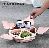 Органайзер для солодощів Peach Heart Shape 5 відсіків з підставкою для телефону WO-27 рожевий, фото 5