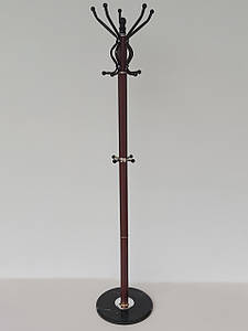 Вешалка-стойка напольная коричневого  цвета ВС169(86), высота 1,69 м