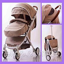 Детская прогулочная легкая коляска книжка Voyage Smart model D289  Бежевая
