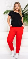 Літній жіночий костюм двійка штани+футболка великі розміри