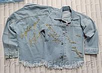 """Куртка джинсова дитяча подовжена з написами на дівчинку 6-12 років """"Star Kids"""" купити оптом в Одесі на 7 км"""