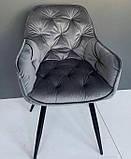 Стілець M-65 сірий вельвет (безкоштовна доставка), фото 8