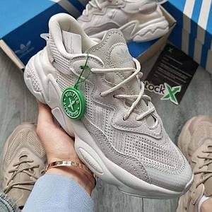 Жіночі кросівки Adidas Ozweego Grey рефлективні, кросівки адідас озвиго
