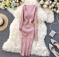 Платье длинное по фигуре