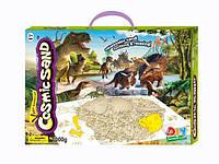 """Набор-кинетический песок с формочками """"Мир динозавров"""", 1000 грамм"""