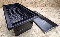 Коптильня универсальная, для рыбы и мяса с гидрозатвором 2 уровня, 520х310х260 металл 1 мм, фото 1