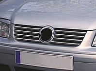 VW BORA Накладки на решетку радиатора (нерж.) 8 шт., фото 1