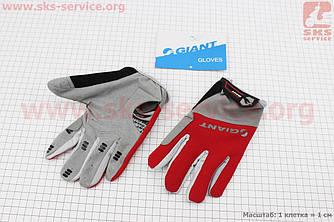 Перчатки L серо-красные, с мягкими вставками под ладонь, НЕ оригинал (408074)