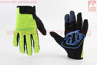 Перчатки XL салатово-черные, с силиконовыми вставками, НЕ оригинал (408136)