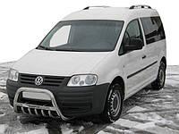 Кенгурятник WT003 (нерж) 60мм, с надписью для Volkswagen Caddy 2004-2010 гг., фото 1