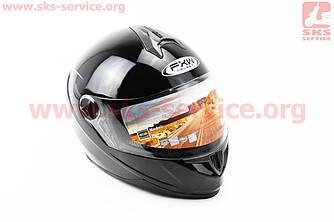 Шлем закрытый HF-122 XL- ЧЕРНЫЙ (330201)