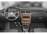 Volkswagen Golf 4 1998-2004 накладки на панель колір титан