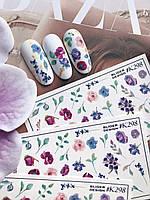 Слайдер-дизайн SLIDIZ наклейка для ногтей цветы