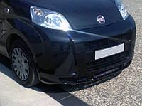 Накладка на передний бампер V1 (под покраску) для Fiat Fiorino/Qubo 2008↗ гг.